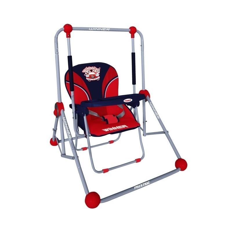 Columpio y silla 2 en 1 rojo for Silla columpio