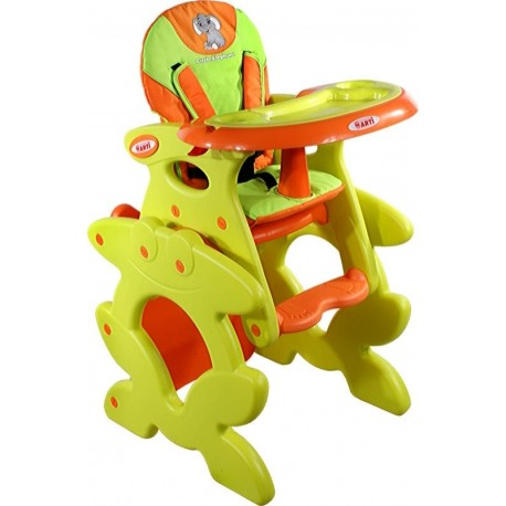 Trona convertible en pupitre naranja