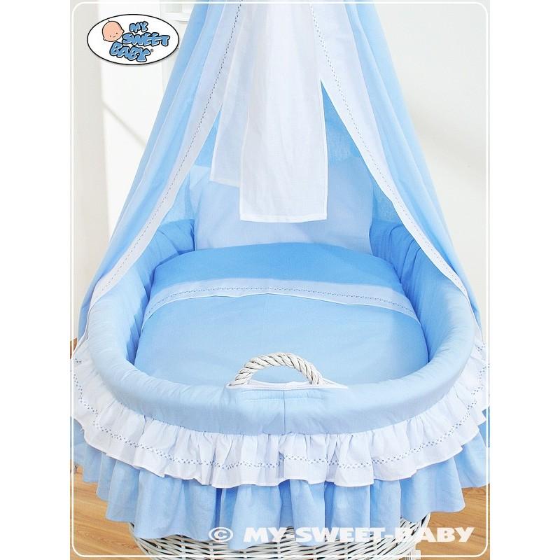Cuna mois s de mimbre beb bellamy azul - Sabanas moises mimbre ...