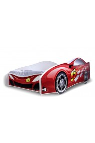 Cama coche rojo con colchón 180x80