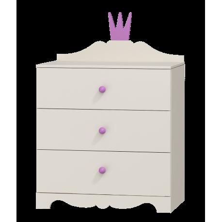 Cómoda Princesa 3 cajones