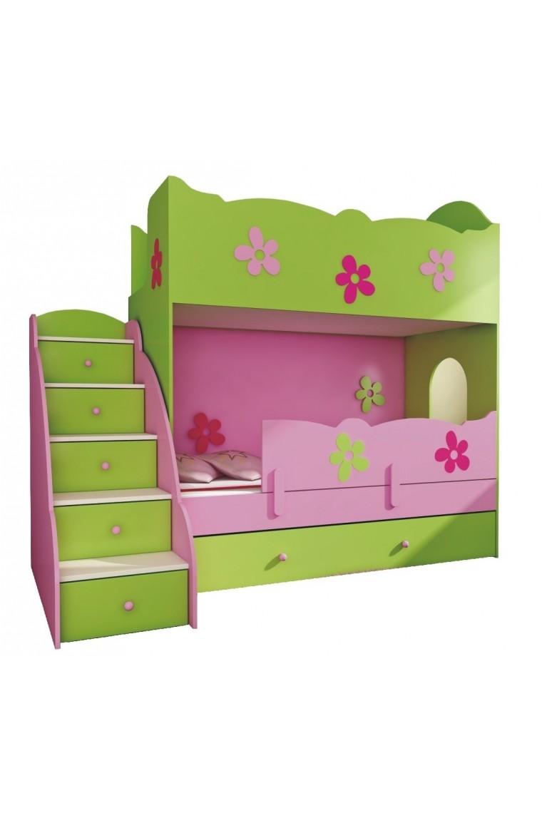 Cama litera cl sico 200x90 cm escaleras - Escaleras para camas altas ...