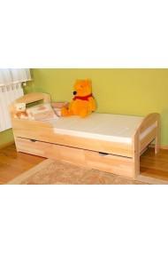 Cama infantil de madera de pino macizo Tim2 con cajón 160x70 cm