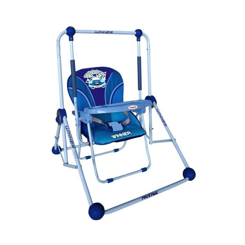 Columpio y silla 2 en 1 azul for Silla columpio