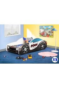 Cama coche infantil con colchón 160x80