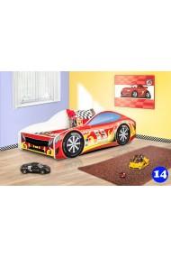 Cama coche niño con colchón 180x80