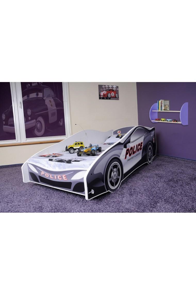 Cama coche de polic a con colch n 180x80 - Cama coche infantil ...