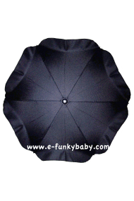Parasol sombrilla para carrito negro