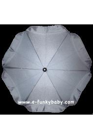 Parasol sombrilla para carrito gris