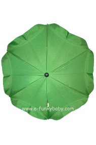 Parasol sombrilla para carrito verde