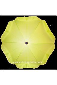 Parasol sombrilla para carrito verde lima
