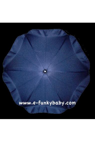 Parasol sombrilla para carrito azul marino