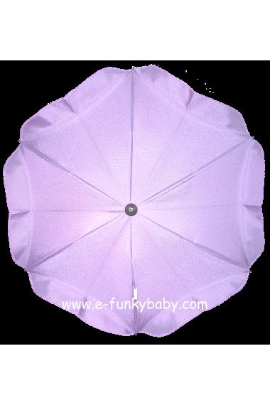 Parasol sombrilla para carrito violeta