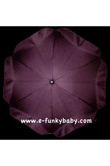 Parasol sombrilla para carrito ciruela