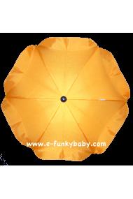 Parasol sombrilla para carrito amarillo