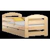 Cama de madera de pino Kam3 con cajón 160 x 70 cm