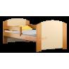 Cama de madera de pino macizo Kam4 160x70 cm