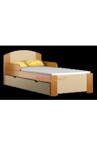 Cama de madera de pino macizo con cajón Bil1 180x80 cm