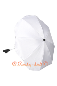 Parasol sombrilla para carrito blanca