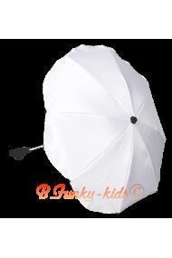 Parasol sombrilla para carrito blanco