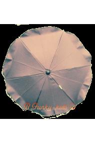 Parasol sombrilla para carrito titanio