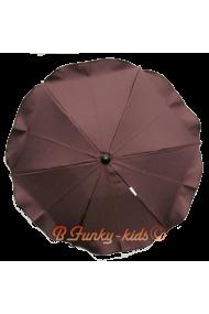 Parasol sombrilla para carrito marrón 38