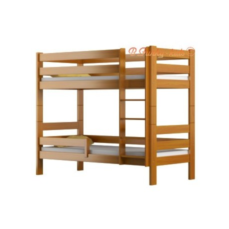 Cama litera de madera maciza casper 180x80 cm - Literas de madera maciza ...
