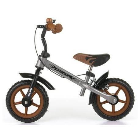 DRAGON CON FRENO PLATA - bicicleta sin pedales