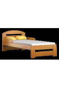 Cama de madera de pino macizo Tim1 160x70 cm