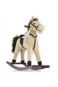Caballo balancín Mustang beige