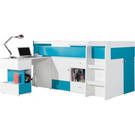 Cama alta con escritorio Mobby 200x90 cm