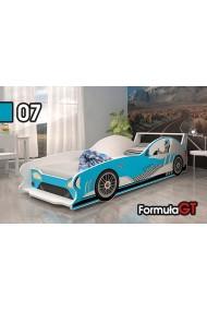 Cama coche Formula GT con colchón 160x80
