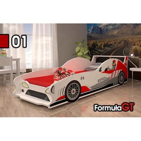 Cama coche de carreras Formula GT con colchón 160x80