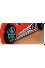 Cama coche de carreras con luces y colchón