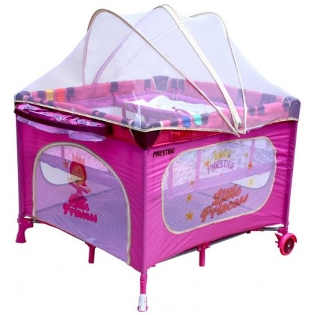 Parque infantil y cuna de viaje 2 en 1 princesa rosa