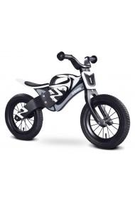 Enduro blanco negro - bicicleta de madera sin pedales