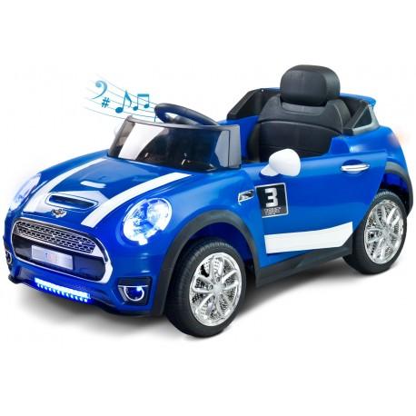 Coche eléctrico Maxi 12V Azul con control remoto