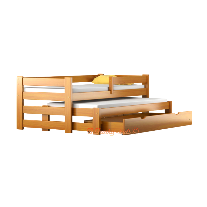 Cama nido madera maciza materiales de construcci n para for Cama nido color madera