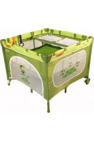 Parque infantil y cuna de viaje dobles gemelos 2 en 1 verde fútbol
