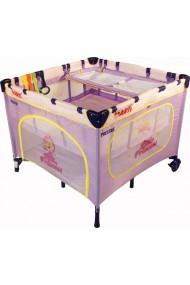 Parque infantil y cuna de viaje dobles gemelos 2 en 1 princesa violeta