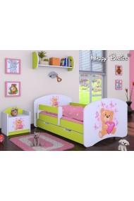 Cama infantil Happy Verde Colección con cajón y colchón