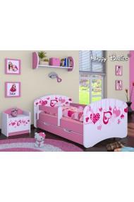 Cama infantil Happy Rosado Colección con cajón y colchón