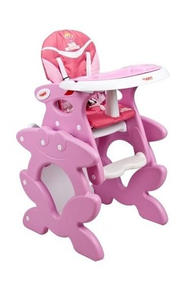 Trona 2 en 1 convertible rosa Ala