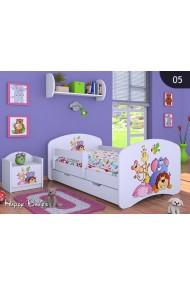 Cama infantil Happy Colección para niños chicos con cajón y colchón