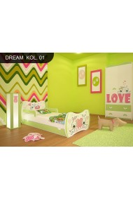 Cama infantil El Sueño Verde Colección con cajón y colchón