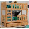 Cama litera de madera maciza Bambi 160x70 cm