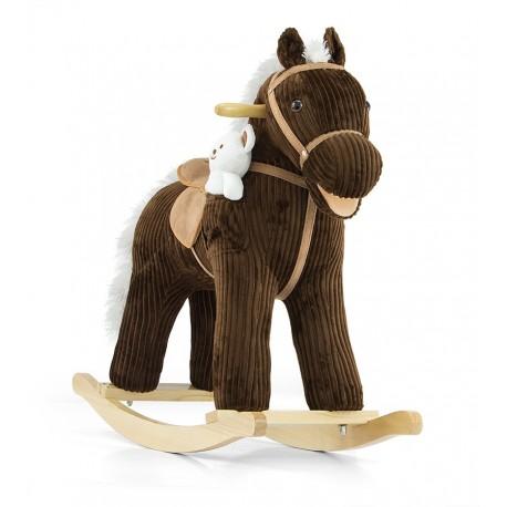 Caballo balancín Pony marrón