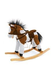 Caballo balancin Pony marrón oscuro