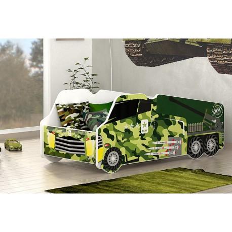Cama camión militar con colchón 140x70