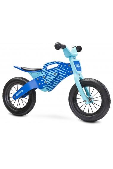 Enduro azul - bicicleta de madera sin pedales